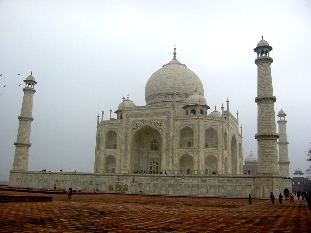 Platform area for Taj mahal exterior design